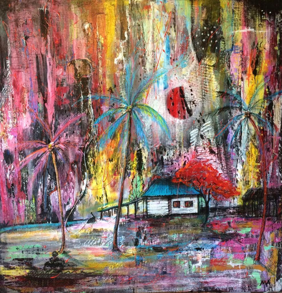 Flamboyance 6-2016 80x80 cm, vendu