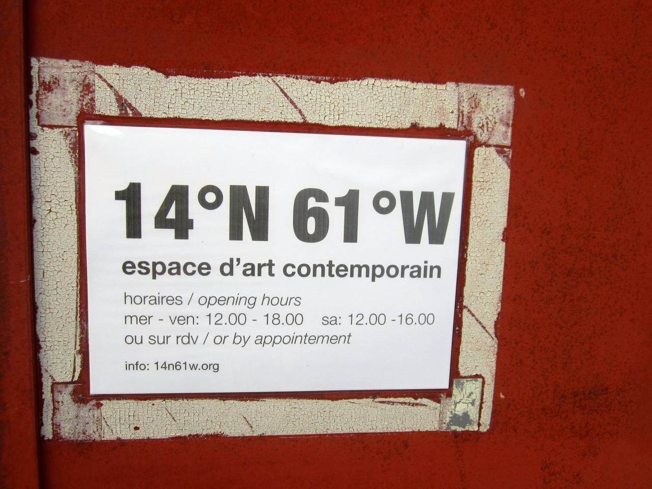 14°N61°W espace d'Art contemporain