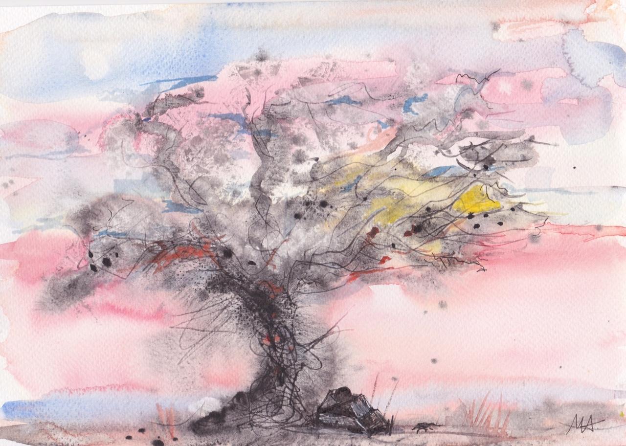 Aquarelle sous les arbres - 3