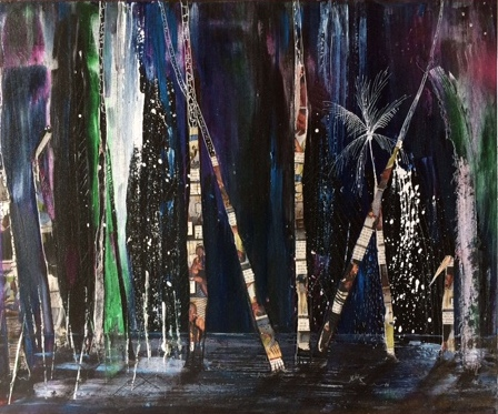 nuit 1 50 x70 cm acryl/toile