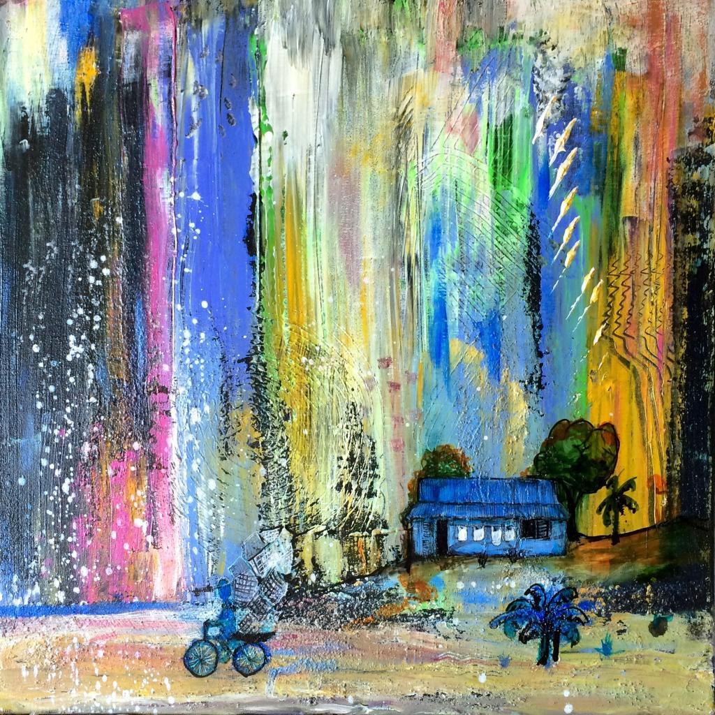 rêves bleus 9-2016 50 x50 cm, vendu